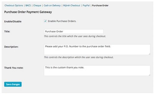 WooCommerce Purchase Order Gateway
