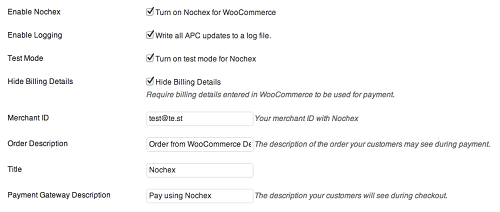WooCommerce Nochex UK Gateway