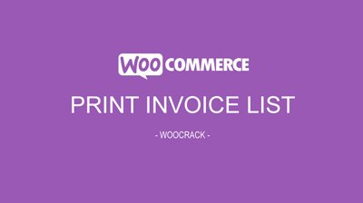 woocrack print invoice list