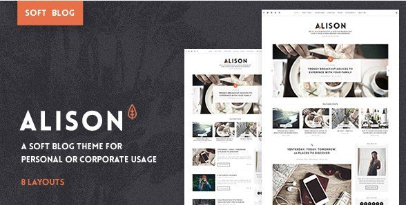 Anne Alison - Soft Personal Blog Theme