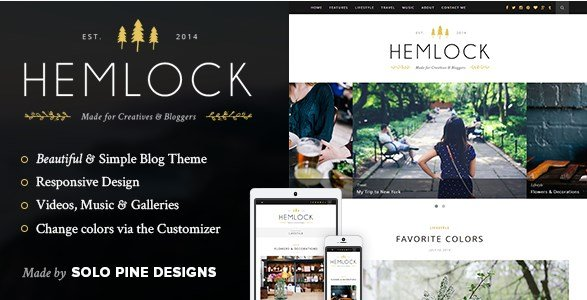 Hemlock - A Responsive WordPress Blog Theme