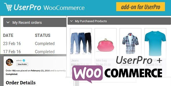 WooCommerce integration for UserPro
