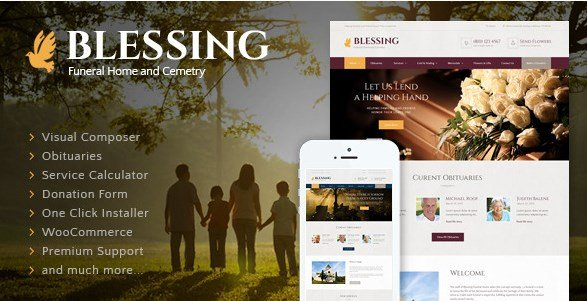 Blessing - Funeral Home WordPress Theme
