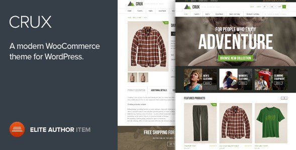 Crux - A Modern And Lightweight WooCommerce Theme