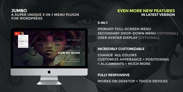 Jumbo - A 3-in-1 Full-Screen Menu For WordPress