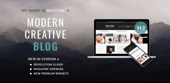 Image result for Brixton 4.0.4 – WordPress Blog Theme