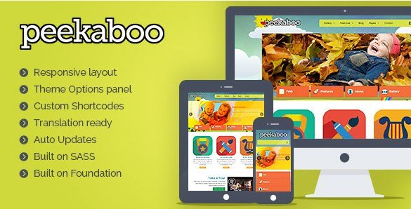 Pekaboo For WordPress - Children WordPress Theme