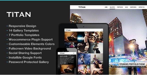 Titan - Responsive Portfolio Photography Theme