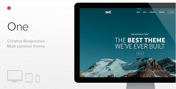 One - The Creative Multipurpose Portfolio Theme