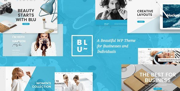 Blu - A Beautiful Theme for Businesses and Individuals