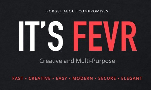 Fevr - Creative MultiPurpose Theme
