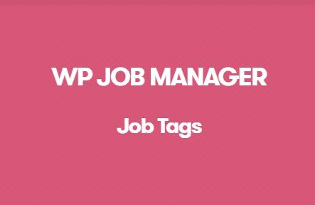 WP Job Manager Job Tags Addon