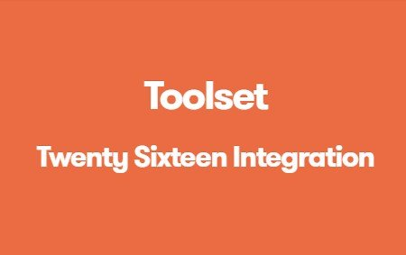 Toolset Twenty Sixteen Integration