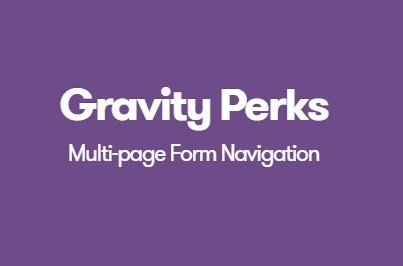 Gravity Perks Multi-page Form Navigation