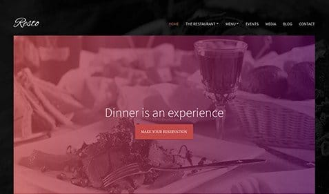 CSS Igniter Resto WordPress Theme