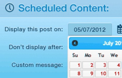 WPMU DEV Schedule Selected Content