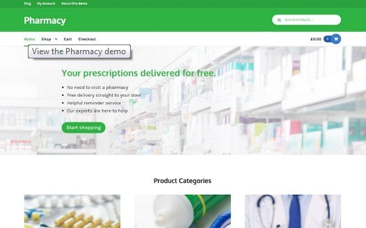 WooThemes Pharmacy Storefront WooCommerce Theme