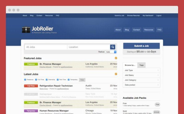 AppThemes JobRoller Wordpress Themes