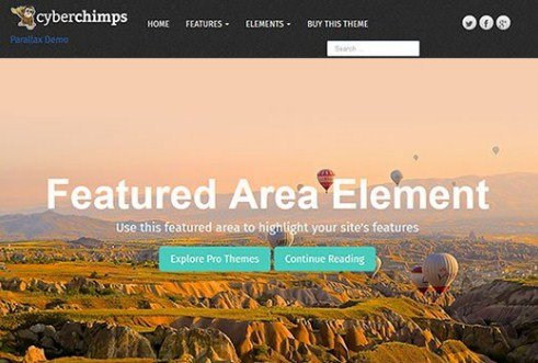 CyberChimps Parallax Pro WordPress Theme