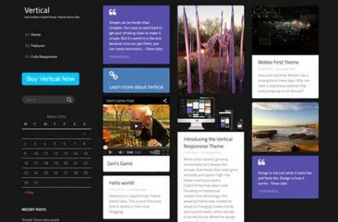 CyberChimps Vertical WordPress Theme