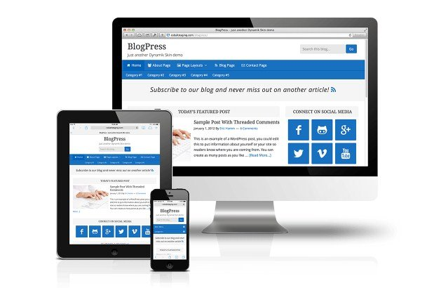 CobaltApps BlogPress Skin for Dynamik Website Builder