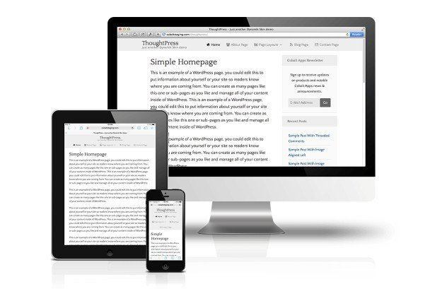 CobaltApps ThoughtPress Skin for Dynamik Website Builder