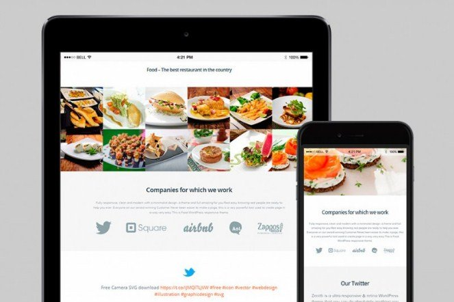 VisualModo Food WordPress Theme