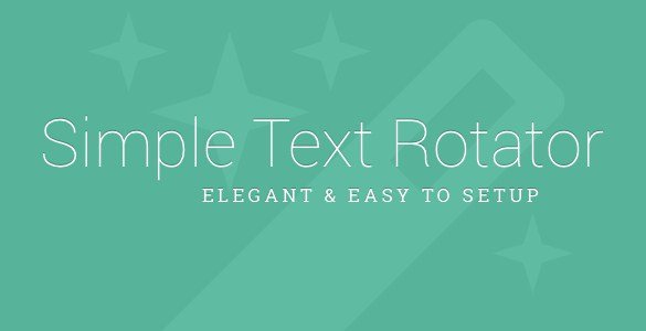Simple Text Rotator WordPress Plugin