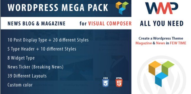 Wordpress Mega Pack for Visual composer