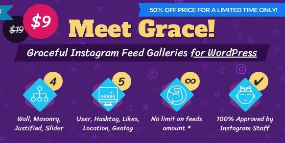 Instagram Feed Gallery - Grace for WordPress