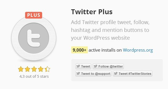 Twitter Plus Wordpress Plugin