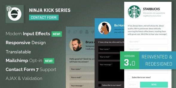 Ninja Kick - WordPress Contact Form Plugin