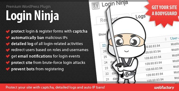 Login Ninja Wordpress Plugin