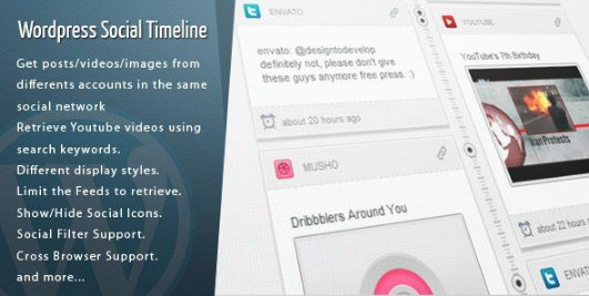 Wordpress Social Timeline Wordpress Plugin