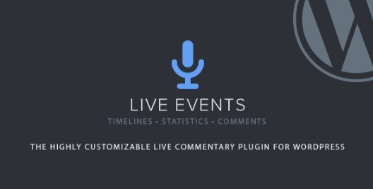 Live Events Wordpress Plugin