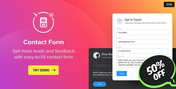 Contact Us Form - WordPress Contact Form Plugin