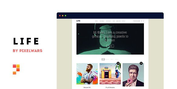 LIFE WORDPRESS THEME  – BOXED PORTFOLIO WP THEME