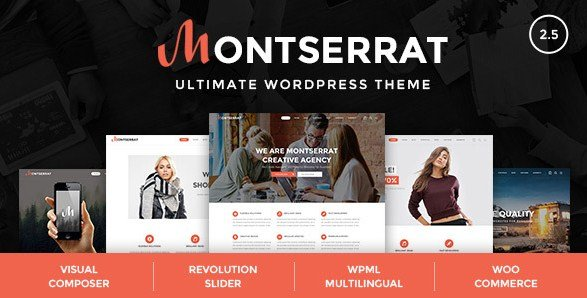 Montserrat - Multipurpose Modern WordPress Theme