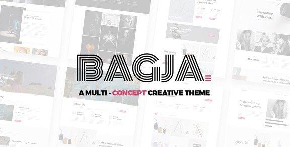 Bagja - Responsive Multi Concept & One Page Portfolio Theme