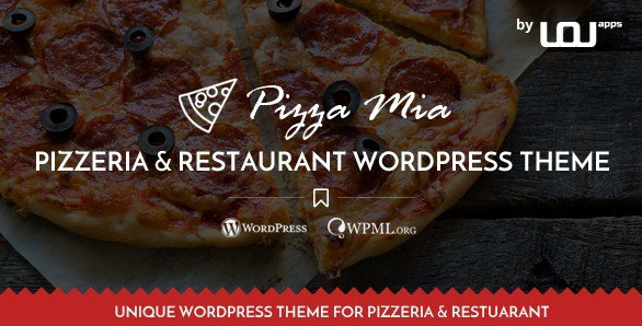 PizzaMia - Restaurant and Pizza WordPress Theme