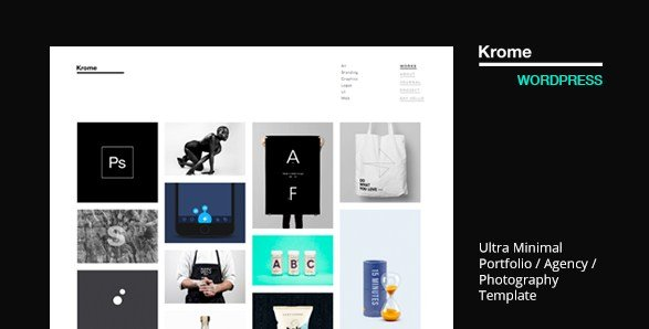 Krome - Minimal Creative Portfolio WordPress Theme